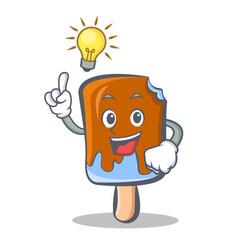 Have an idea ice cream character cartoon vector