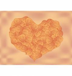 heart leaf vector image vector image