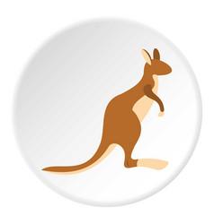 kangaroo icon circle vector image