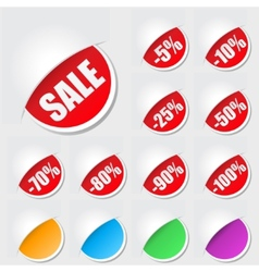 Labels for sale vector image