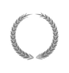 Laurel wreath sign gray icon shaked at vector