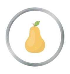 Pear icon cartoon Singe fruit icon vector image vector image