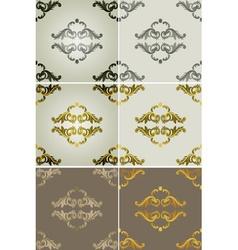 Royal filigree patterned backdrop set vector