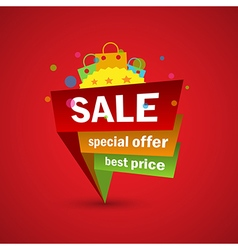 Sale and special offer discount and shopping vector