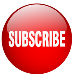 Subscribe red round gel isolated push button vector