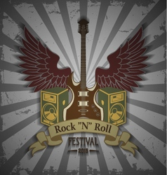 Symbol of rock festival vector image