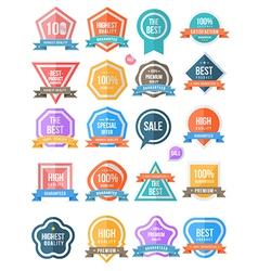 Tag label collection simply vector image vector image