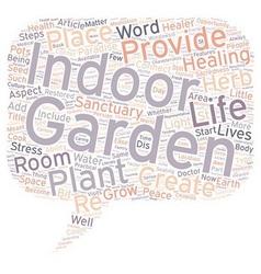 The garden as healer text background wordcloud vector