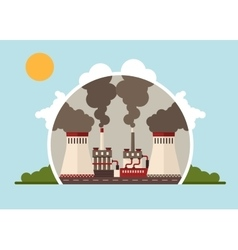 Thermal power plants vector