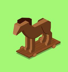 Trojan horse isometric vector