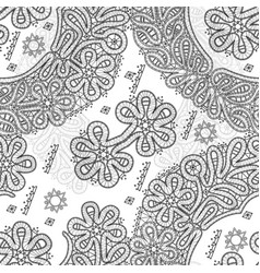 Vologda lace seamless pattern vector
