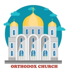 Eastern orthodox christian church with domes vector
