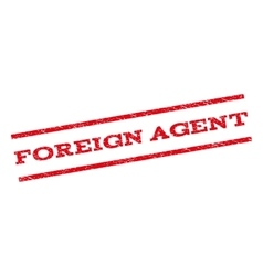 Foreign agent watermark stamp vector