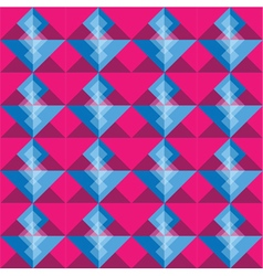Pink and blue square seamless pattern blackground vector image