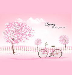 Beautiful spring nature background with a vector