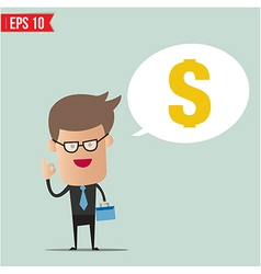Business man and money vector image