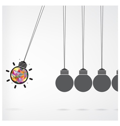 Newtons cradle concept on background vector