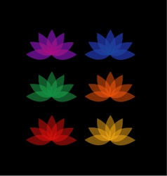Lotus in different colors- logo for business vector image