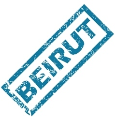 Beirut rubber stamp vector