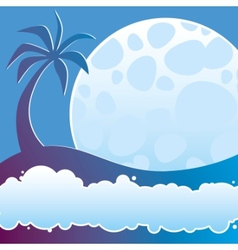 Tropical night vector