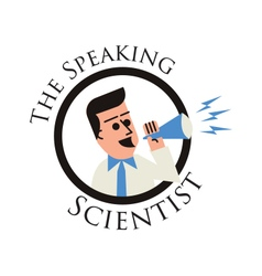 Speaking scientist vector