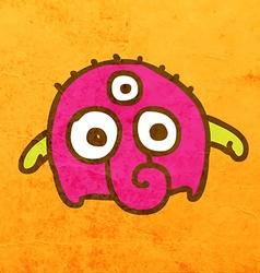 Three Eyed Alien Cartoon vector image