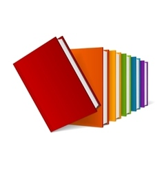 Book stack vector
