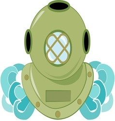 Deep sea diver vector