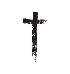 Christian cross grunge vector image