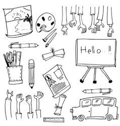 Doodle of school education stock vector