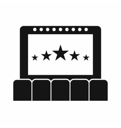 Cinema icon simple style vector