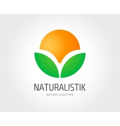 Abstract nature logo template for branding vector