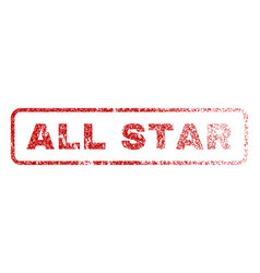 All star rubber stamp vector