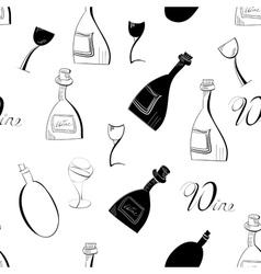 bottle sketch background vector image