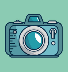 Camera photographic handmade drawn vector
