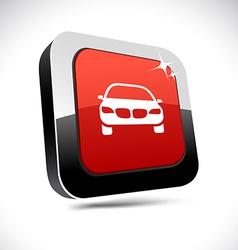Car 3d square button vector