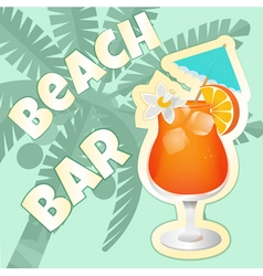 Coctail beach vector image vector image