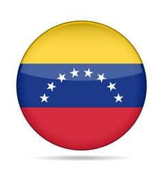 Flag of venezuela shiny round button vector