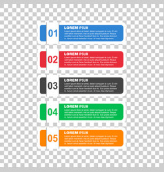 Flat business style options banner for diagram vector