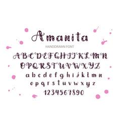 handdrawn script font display sty vector image