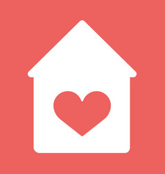 house with heart icon vector image