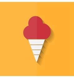 Ice cream web icon flat design vector