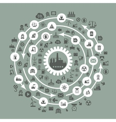 Industry a circle vector image vector image