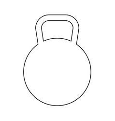 kettlebell the black color icon vector image vector image