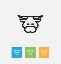 of zoology symbol on bull vector image vector image