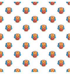 Smiling clown head pattern vector