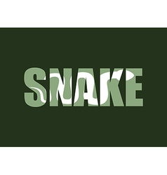 Snake Silhouette of reptiles in text Long vector image