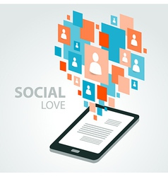 Social icon group element flirtation vector