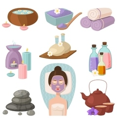 Spa procedure icons vector