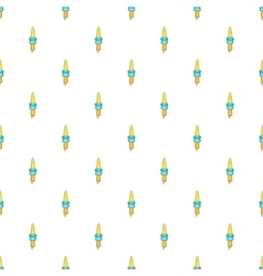 Spark plug pattern cartoon style vector image
